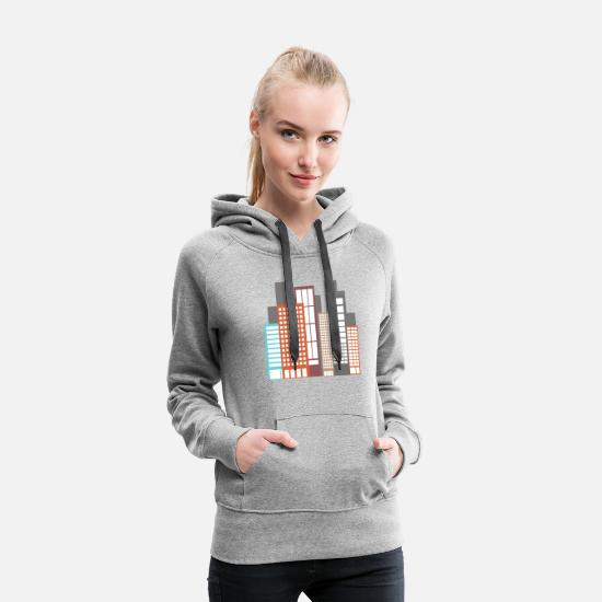 Highrise Building Hoodies & Sweatshirts - building - Women's Premium Hoodie heather grey