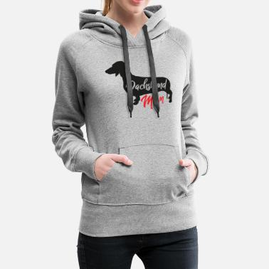 Sausage Dachshund Dachshund Dogs Mother Mom Gift Idea - Women's Premium Hoodie
