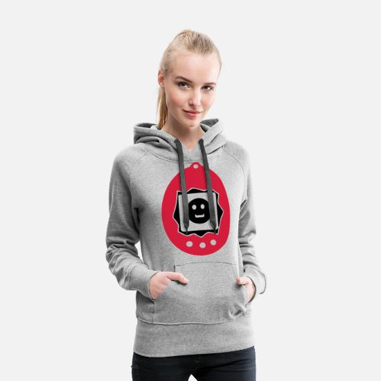 Virtual Pullover & Hoodies - virtual pet animal - Frauen Premium Hoodie Grau meliert