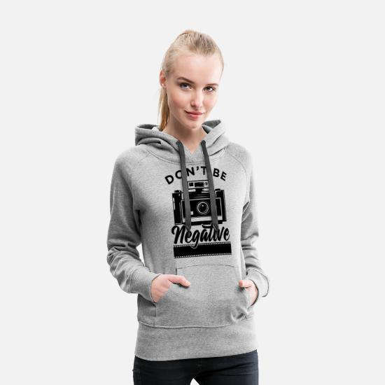 Kind Hoodies & Sweatshirts - Photography Photographer Fan Lover Gift - Women's Premium Hoodie heather grey