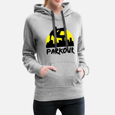 Free Running Free running in the city, parkour - Women's Premium Hoodie