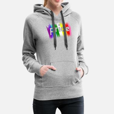 Bi Gay Pride LGBT Rainbow Stripe Awareness design - Naisten premium huppari