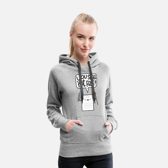 Lustige Pullover & Hoodies - You shall not pass-To Do - Frauen Premium Hoodie Grau meliert