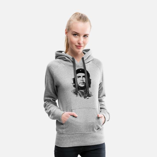 Officialbrands Hoodies & Sweatshirts - Che Guevara Signature - Women's Premium Hoodie heather grey