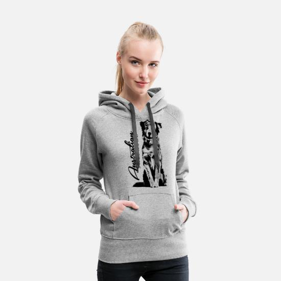 Canine Hoodies & Sweatshirts - Australian Shepherd Aussie - Women's Premium Hoodie heather grey