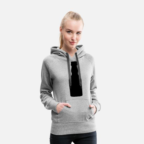 Alcohol Hoodies & Sweatshirts - liquor bottle - Women's Premium Hoodie heather grey