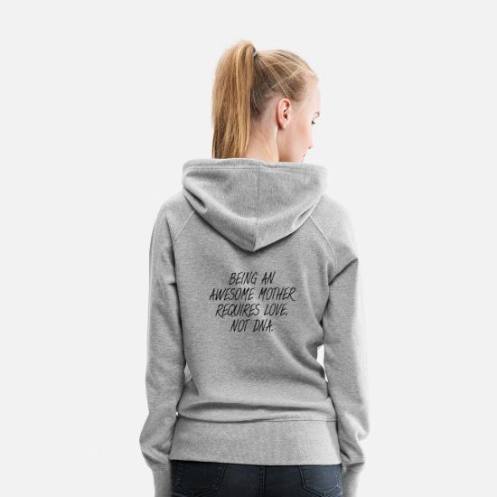 Love Hoodies & Sweatshirts - awesome step mom - Women's Premium Hoodie heather grey