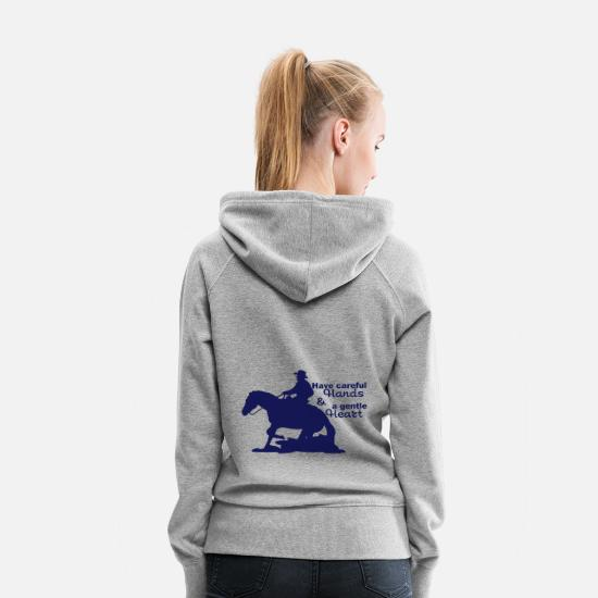 Western Hoodies & Sweatshirts - Western riding - Women's Premium Hoodie heather grey