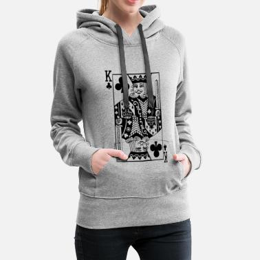 King Queen Jeu de cartes Cross King - Sweat-shirt à capuche Premium pour femmes