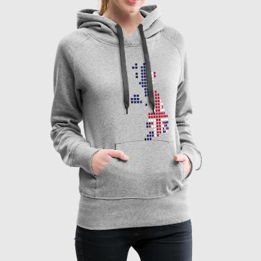 UK - Great Britain flag pixel map - Vrouwen Premium hoodie