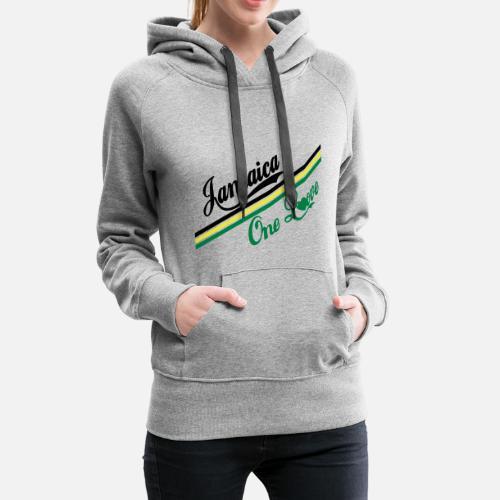 ... love - Sudadera con capucha premium mujer gris. ¿Quieres personalizar  el diseño  96f7194a498a