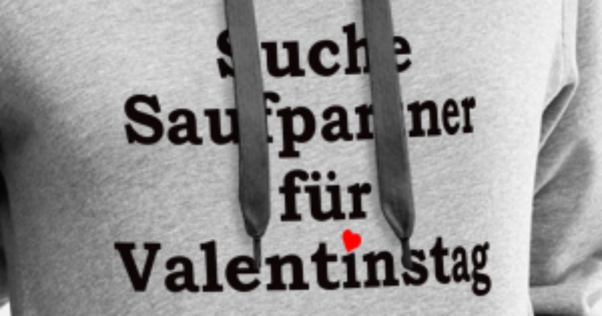 Suche Saufpartner Fur Valentinstag Bier Frauen Premium Hoodie