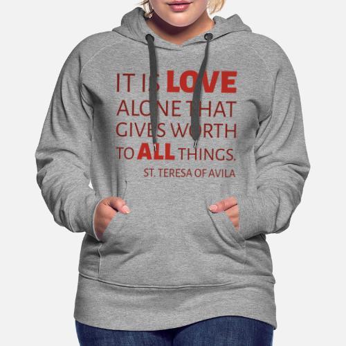 Love alone Sweat à capuche premium Femme   Spreadshirt b8522cf0a3e4