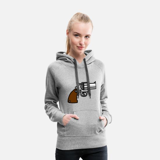 Hustle Sweat-shirts - gangster gangster arme criminelle bul arme armes de poing - Sweat à capuche premium Femme gris chiné