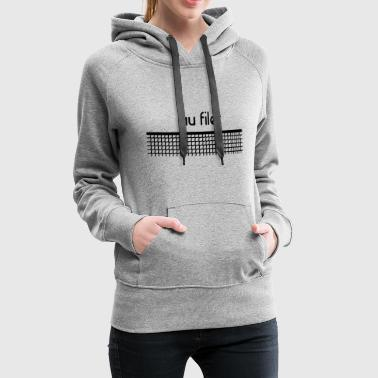 Au filet tennis - Personnalisable - Sweat-shirt à capuche Premium pour femmes