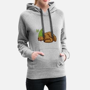 Fairy Teddy bear animals hibernating child winter fantasy - Women's Premium Hoodie