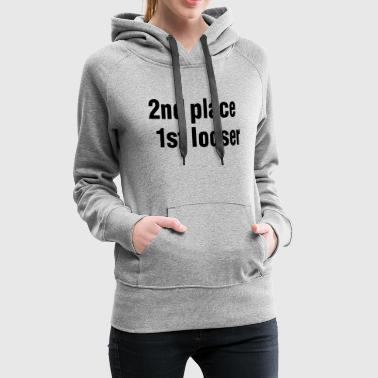 2nd place - 1st looser - winner - competition - match - Sweat-shirt à capuche Premium pour femmes