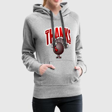 Thanksgiving dinde - Sweat-shirt à capuche Premium pour femmes