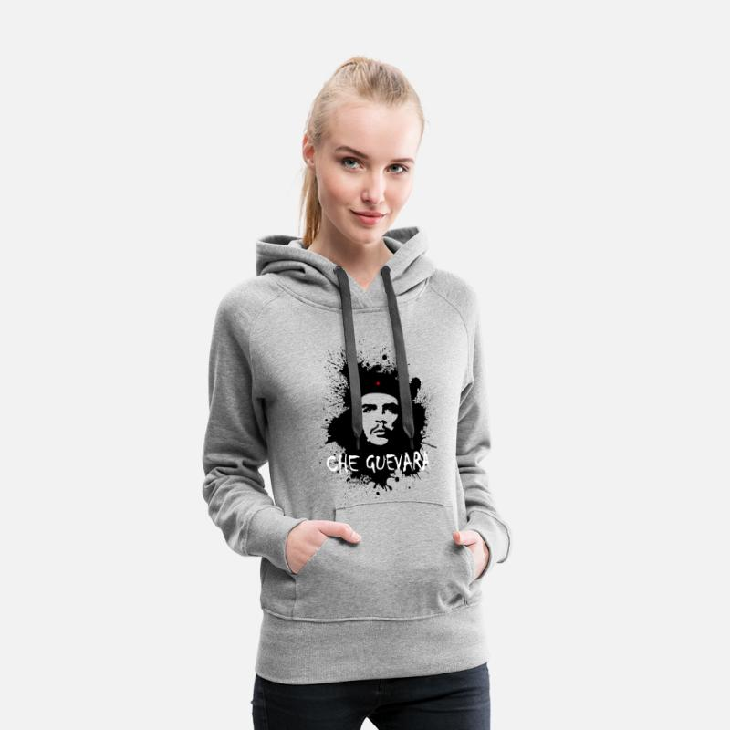 Che Guevara Hoodies & Sweatshirts - Che Guevara Splatter Women Hoodie - Women's Premium Hoodie heather grey