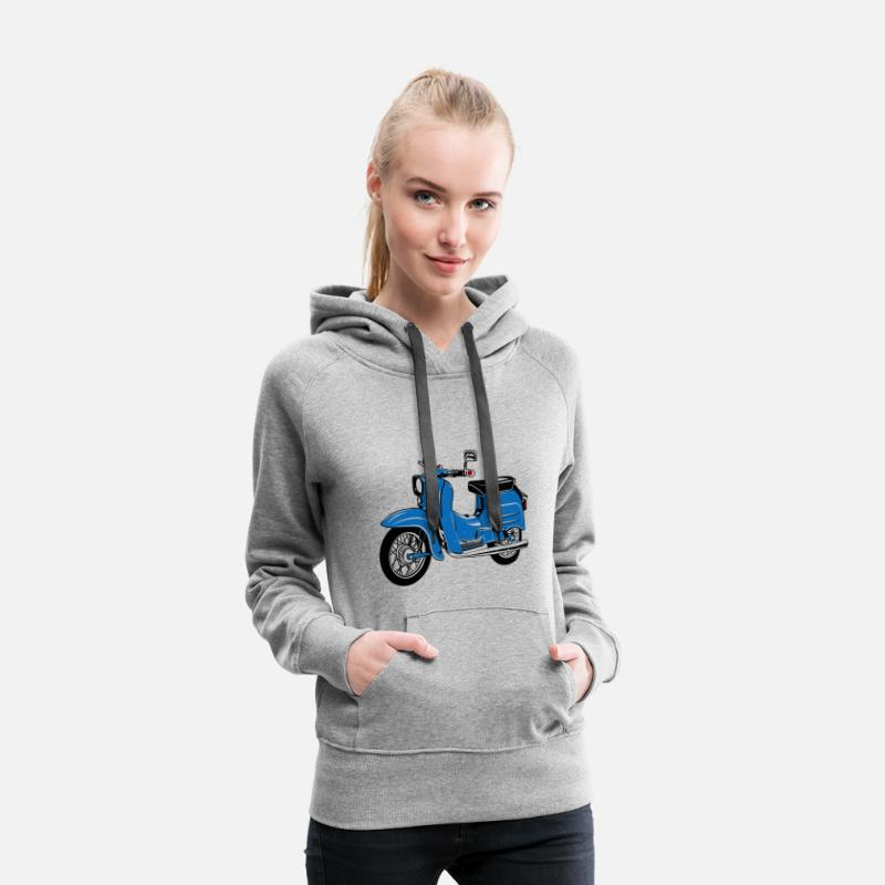 Simson Hoodies & Sweatshirts - Simson Schwalbe KR51 - Women's Premium Hoodie heather grey