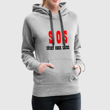 SOS sweet or sour gift Halloween - Women's Premium Hoodie