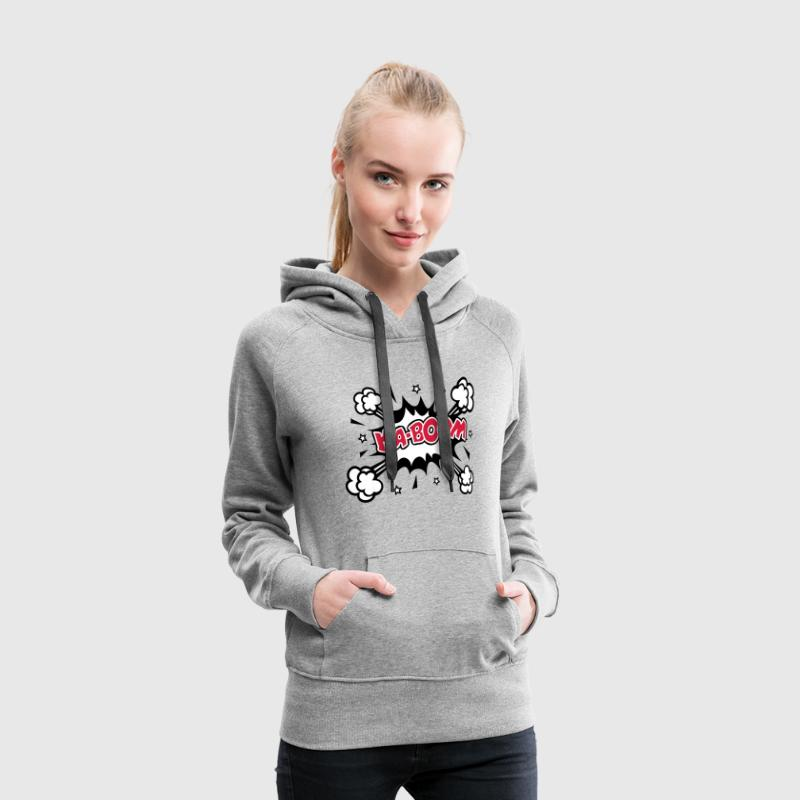 Comic KABOOM, Explosion, Cartoon Sprache, Bang - Frauen Premium Hoodie