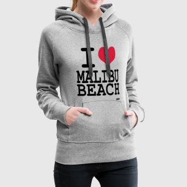 i love malibu by wam - Sweat-shirt à capuche Premium pour femmes