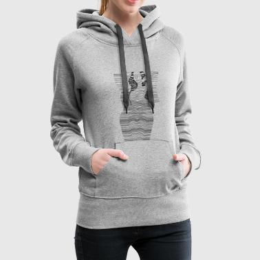 LineLady / Naked woman on the line - Women's Premium Hoodie
