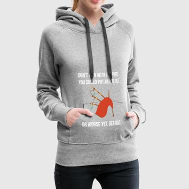 Bagpipes Bagpipe gift for bagpipe players - Women's Premium Hoodie