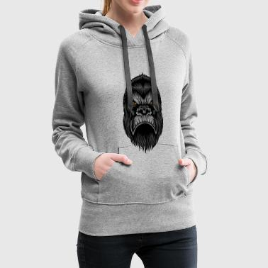 Gorilla Tattoo Wildlife Wildlife Monkey - Women's Premium Hoodie