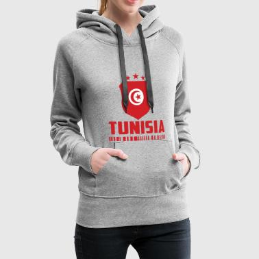 Tunisie Football Cadeau Fan Coupe du Monde - Sweat-shirt à capuche Premium pour femmes