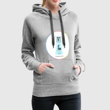 Sauce FLYING SAUCER - Sweat-shirt à capuche Premium pour femmes