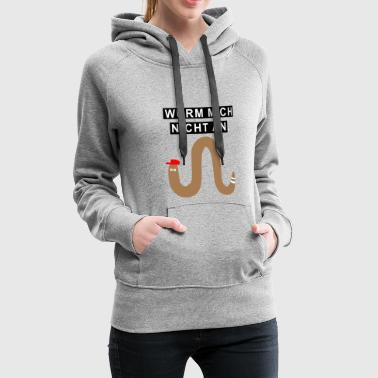 Cool worm worms gift - Women's Premium Hoodie