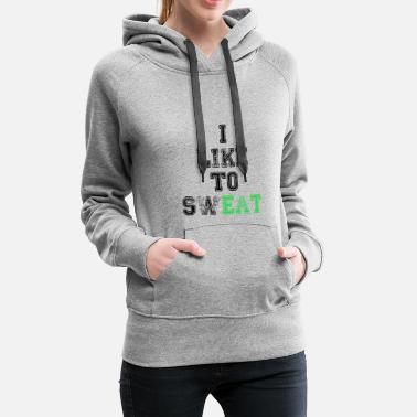 Personal Trainer eat sweat eat sweat cheat day meal gift - Women's Premium Hoodie