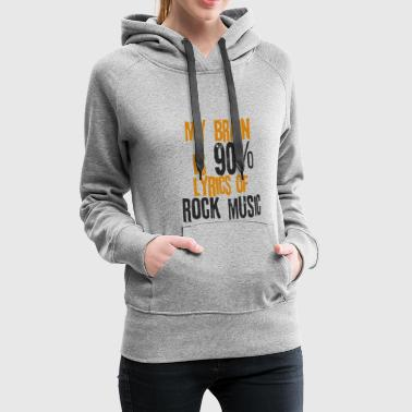 Rock Music Rock'n Roll Texts Songs Hard Rock Metal - Women's Premium Hoodie