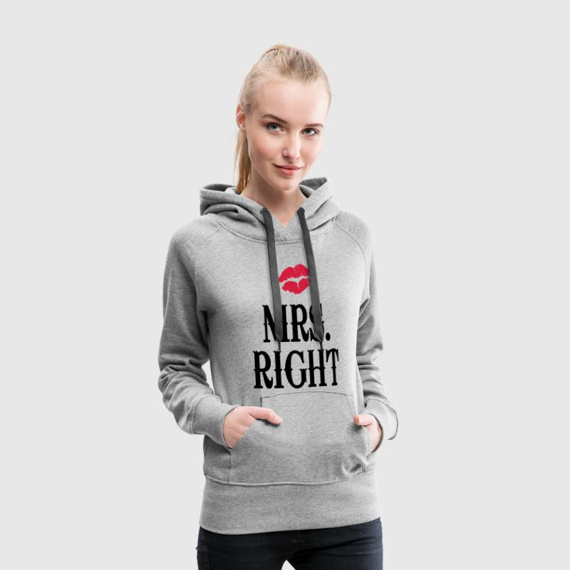 Mrs. Right - Frauen Premium Hoodie
