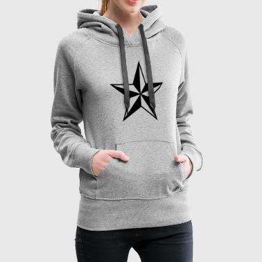 Nautical star protection guidance good luck symbol - Women's Premium Hoodie