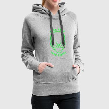 Take Me To Your Leader T-Shirt Funny Space Alien - Women's Premium Hoodie