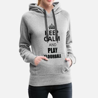 Floor Ball Floorball - Sweat-shirt à capuche Premium pour femmes