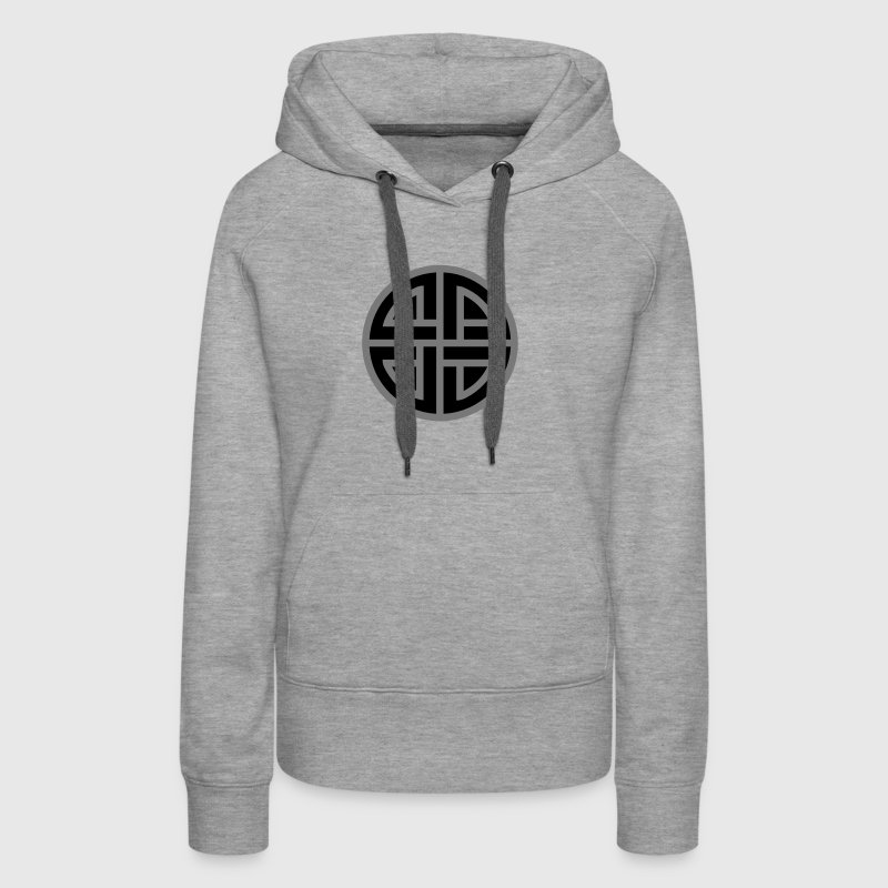 Viking Celtic shield knot, Protection Amulet, - Women's Premium Hoodie