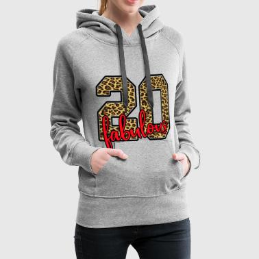 20 birthday Leopard Tiger pattern - Women's Premium Hoodie