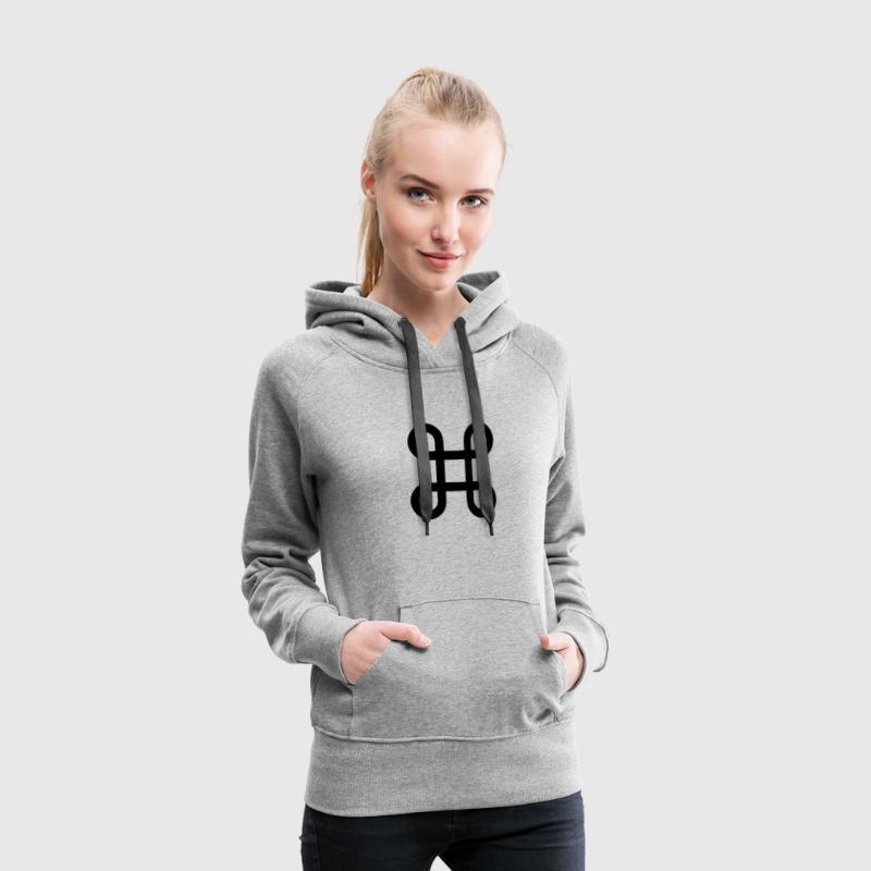 Apple - infinite loop - command key symbol - Women's Premium Hoodie