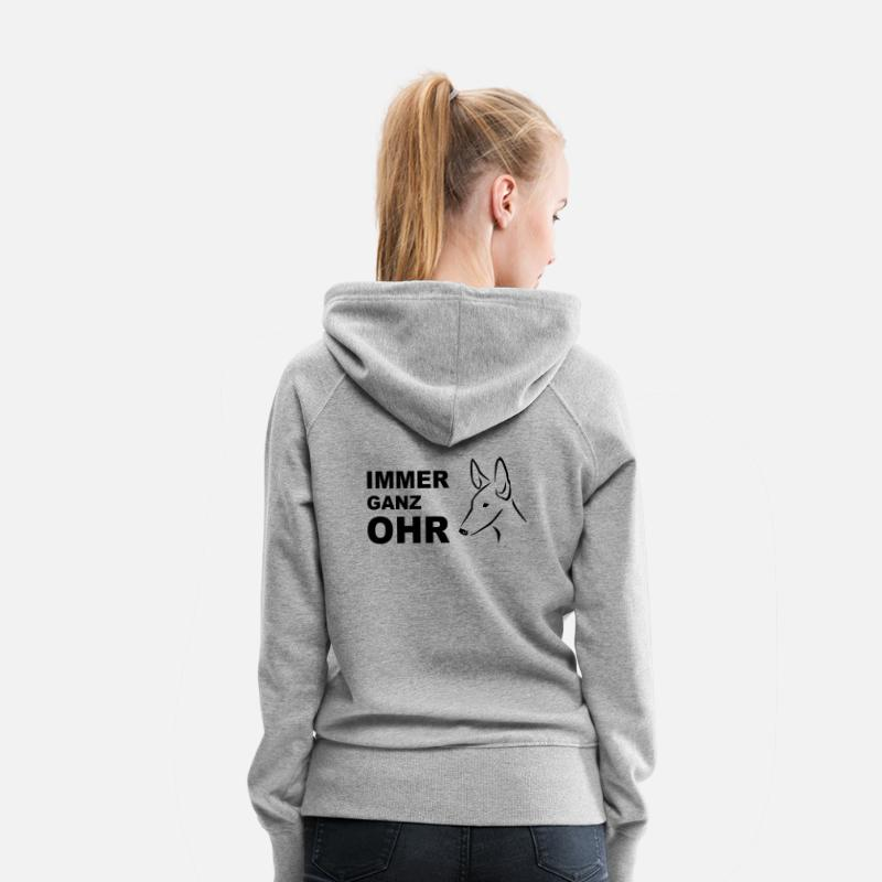 Podenco Hoodies & Sweatshirts - Podenco - Women's Premium Hoodie heather grey