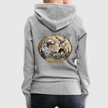 english setter specialist - Sweat-shirt à capuche Premium pour femmes