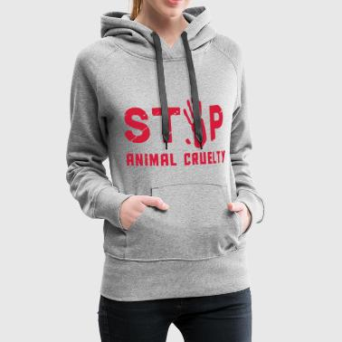 Stop for animal brutality - Women's Premium Hoodie