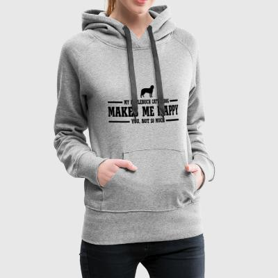 ENTLEBUCH CATTLE DOG makes me happy - Women's Premium Hoodie