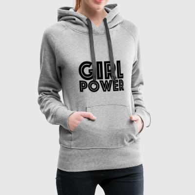 GIRL POWER - Premium hettegenser for kvinner