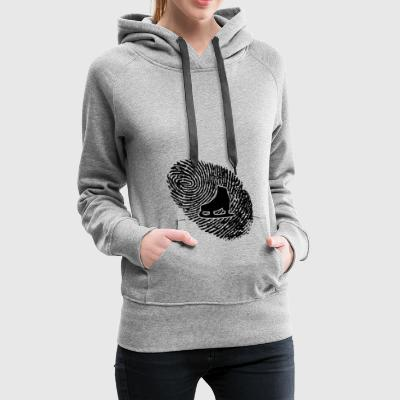 fingerprint dns dna gift skating - Women's Premium Hoodie