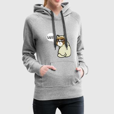 Cat WHAT? - Women's Premium Hoodie
