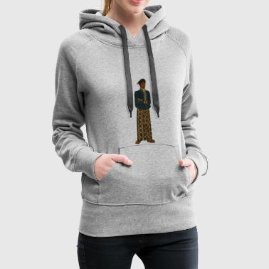 Native American / Indian with skirt - Women's Premium Hoodie